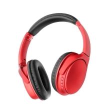 Sluchátka Bluetooth bezdrátová MS-K10 - mikrofon + ovládání - FM rádio - Micro SD slot - 3,5mm jack vstup - červená