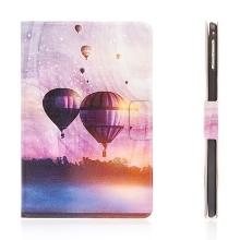 Pouzdro / kryt pro Apple iPad mini 4 - integrovaný stojánek a prostor na doklady - létající balón
