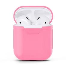 Pouzdro / obal pro Apple AirPods - silikonové - růžové
