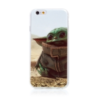 Kryt STAR WARS pro Apple iPhone 6 / 6S - gumový - Mandalorian / Baby Yoda