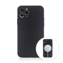 Kryt pro Apple iPhone 11 Pro Max - MagSafe magnety - silikonový - černý