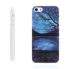 Kryt / obal pro Apple iPhone 5 / 5S / SE - gumový - noční jezero