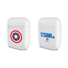 Pouzdro / obal MARVEL pro Apple Airpods - plastové - bílé - kapitán Amerika