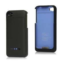 Baterie externí pro Apple iPhone 4 / 4S s plastovým krytem - 1900mAh - černá