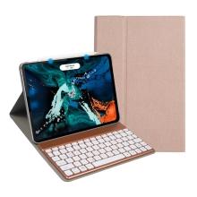 """Klávesnice Bluetooth odnímatelná + kryt / pouzdro pro Apple iPad Pro 11"""" - Rose Gold"""