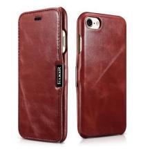 Pouzdro ICARER pro Apple iPhone 11 Pro - kožené - vínové