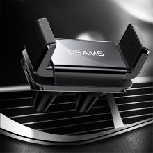 Držák do auta USAMS ZJ045 - na ventilační mřížku - dvojité uchycení - černý