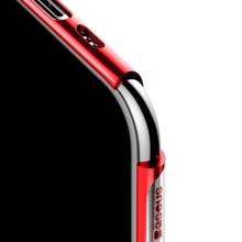 Kryt BASEUS Shining pro Apple iPhone XIR - gumový - pokovený - průhledný