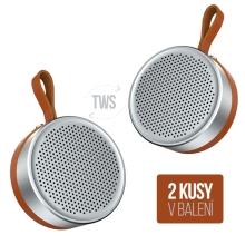 Reproduktory DEVIA Grace TWS - Bluetooth 4.2 - sada 2 kusů - stříbrné / černé