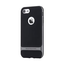 Kryt ROCK Royce pro Apple iPhone 7 / 8 gumový / šedý plastový rámeček