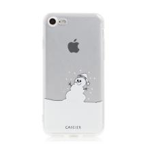 Kryt pro Apple iPhone 7 / 8 / SE (2020) - gumový - průsvitný / sněhulák a sníh