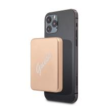 Externí baterie / power bank GUESS pro Apple iPhone s MagSafe rozhraním - 3000 mAh - zlatá