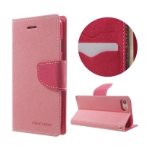 Pouzdro Mercury Fancy Diary pro Apple iPhone 7 / 8 / SE (2020) - stojánek a prostor na doklady - růžové