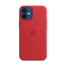 Originální kryt pro Apple iPhone 12 mini - silikonový - červený