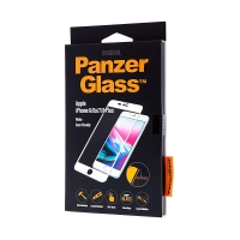 Tvrzené sklo (Tempered Glass) PANZERGLASS pro Apple iPhone 6 Plus / 6S Plus / 7 Plus / 8 Plus Casefriendly 2,5D - bílý rámeček -