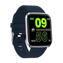 Fitness chytré hodinky - tlakoměr / krokoměr / měřič tepu - Bluetooth - vodotěsné - modré