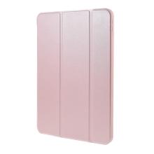 Pouzdro / kryt pro Apple iPad Air 4 (2020) - funkce chytrého uspání - umělá kůže - gumová záda - Rose Gold růžové