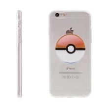 Kryt pro Apple iPhone 6 / 6S gumový - Pokemon Go / Pokeball - oranžový