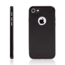 Kryt TOTU pro Apple iPhone 7 / 8 gumový / plastový rámeček - výřez pro logo - černý