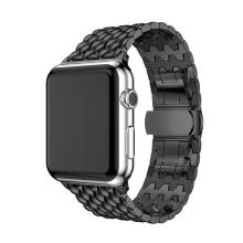Řemínek pro Apple Watch 40mm Series 4 / 38mm 1 2 3 - šestiúhleníky - nerezový - grafitový / šedý