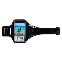 Sportovní pouzdro pro Apple iPhone včetně velikostí Plus a Max - reflexní prvky - černé