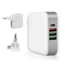 61W EU napájecí adaptér / nabíječka - USB-C PD + 3x USB-A pro Apple iPhone / iPad / MacBook