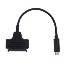 Kabel / adaptér SATA 22 Pin 2.5 Hard Disk Driver SSD / USB-C - černý