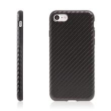 Kryt ROCK pro Apple iPhone 7 / 8 gumový / karbonový vzor - černý