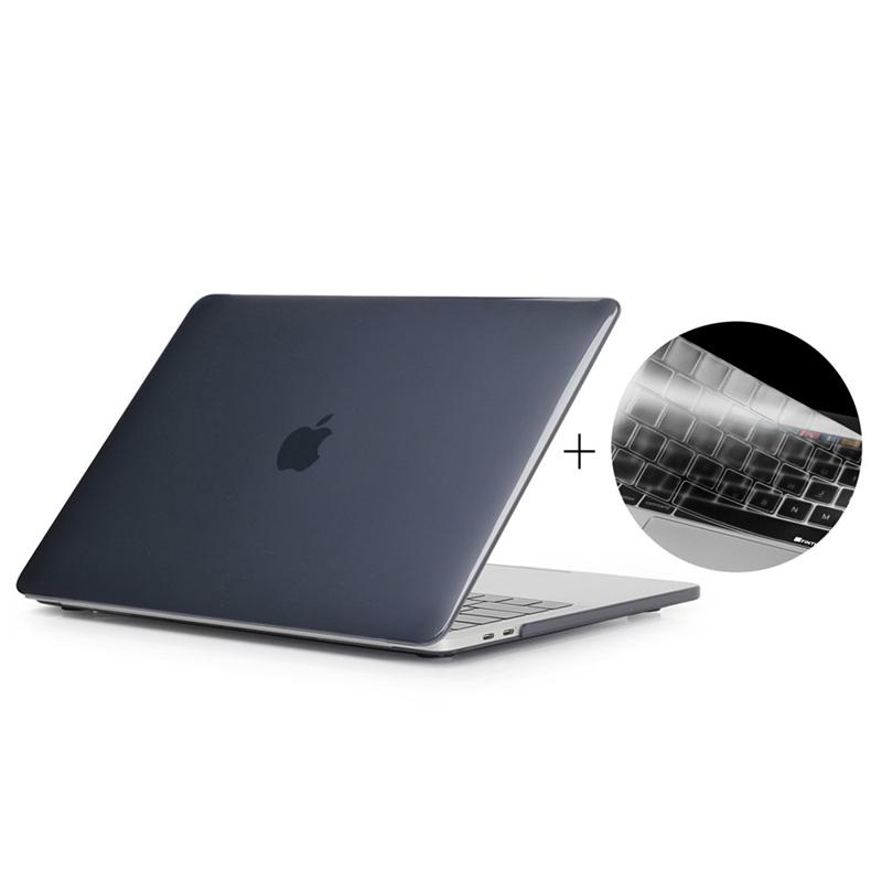 """Obal / kryt ENKAY pro Apple MacBook Pro Retina 15"""" (2016 - 2018) - model A1707, A1990 + kryt klávesnice - černý"""