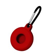 Kryt / obal pro Apple AirTag - kovová karabina - silikonový - červený