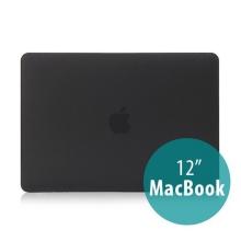 Tenký plastový obal / kryt pro Apple MacBook 12 Retina (rok 2015) - matný - černý
