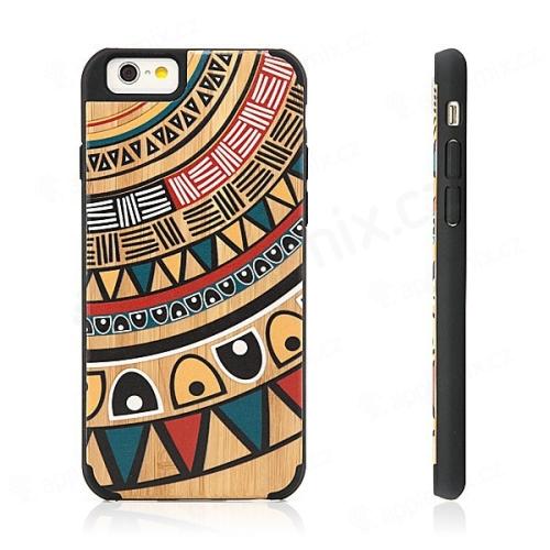 Plasto-dřevěný kryt pro Apple iPhone 6   6S - Afrika  30e7c40131d