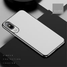 Kryt USAMS Jay pro Apple iPhone X - plastový - stříbrný