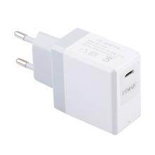 18W EU napájecí adaptér / nabíječka - rychlonabíjecí - USB-C pro Apple iPhone / iPad - bílý