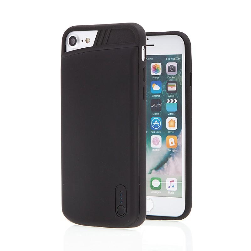 Externí baterie / kryt pro Apple iPhone 6 / 6S / 7 / 8 - 2500 mAh - matná - černá
