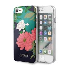 Kryt GUESS Flower Shiny N.1 pro Apple iPhone 7 / 8 / SE (2020) - plastový - květiny