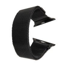 Řemínek pro Apple Watch 44mm Series 4 / 5 / 42mm 1 2 3- magnetický - nerez - černý