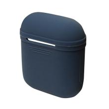 Pouzdro / obal DAITE pro Apple AirPods - silikonové + bílá šňůrka k AirPods - modré