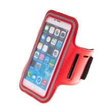 Sportovní pouzdro pro Apple iPhone 6 / 6s / 7 / 8 Plus a X / Xs / Xr - reflexní pruh - červené