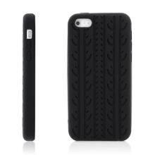 Ochranný silikonový kryt pro Apple iPhone 5C - vzor pneu - černý