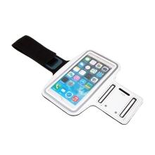 Sportovní pouzdro pro Apple iPhone 6 / 6s / 7 / 8 Plus a X / Xs / Xr - reflexní pruh - bílé