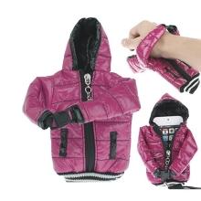 Ochranné pouzdro fialová bunda s kapucí se šňůrkou na krk pro Apple iPhone / iPod a podobná zařízení