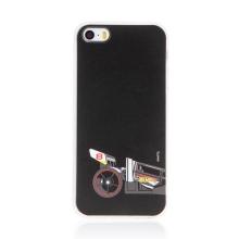 Kryt HOT WHEELS - pro Apple iPhone 5 / 5S / SE - gumový - formule - černý