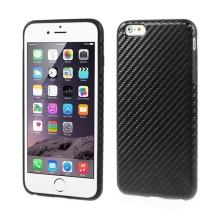Gumový kryt pro Apple iPhone 6 Plus / 6S Plus - černý s karbonovým vzorem