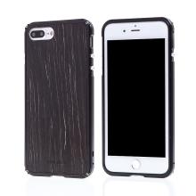 Rámeček / bumper + zadní kryt pro Apple iPhone 7 Plus / 8 Plus - hliník / dřevo