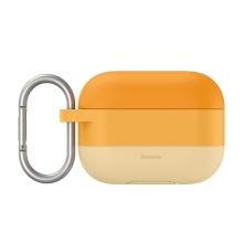 Pouzdro / obal BASEUS pro Apple AirPods Pro - silikonové - barevný přechod - oranžové