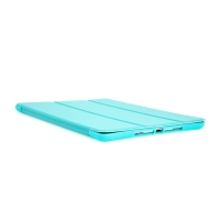 """Pouzdro / kryt pro Apple iPad 9,7 (2017-2018) / Air 1 / 2 / Pro 9,7"""" - funkce chytrého uspání - gumové - světle modré"""