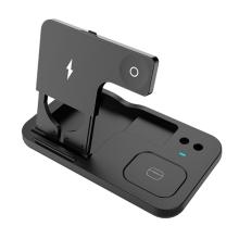 3v1 nabíjecí stanice Qi pro Apple iPhone + AirPods + Watch - černá
