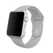 Řemínek pro Apple Watch 41mm / 40mm / 38mm - velikost S / M - silikonový - šedý