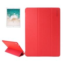 """Pouzdro ENKAY pro Apple iPad Pro 10,5"""" / Air 3 (2019) - funkce chytrého uspání - gumové / umělá kůže - červené"""